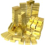 100 Gold Foil Cotton Filled Jewelry Gift Boxes 2 5/8""