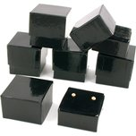 6 Earring Gift Boxes Black Gold Showcase Display