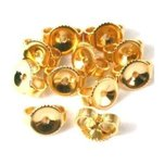 12 14K Gold Filled Earring Backs Yellow Stud Nut Part