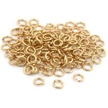 100 Jump Rings 14K Gold Filled Open Jewelry Clasp 4mm