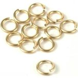 12 14K Gold Filled Jump Rings Open Jewelry Parts 8mm
