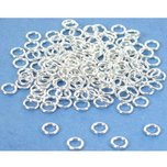 150 Jump Rings Open Sterling Silver Jewelry Parts 4mm
