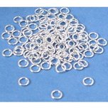 120 Sterling Silver Jump Rings Beading Jewelry Parts 20 Gauge