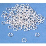 80 Sterling Silver Jump Rings Beading Jewelry Parts 20 Gauge