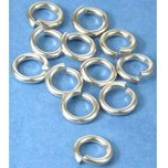 12 Jump Rings Sterling Silver Open Jewelry Chain Part