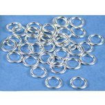 40 Jump Rings Closed Sterling Silver Jewelry Part 7mm