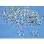 40 Jump Rings Closed Sterling Silver Jewelry Part 8mm