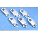 6 Sterling Silver Lobster Claw Clasps Bracelet Parts