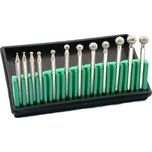 "Diamond Coated Ball Burs 1/8"" 12Pcs"