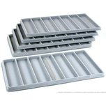 5 Gray 7 Compartment Bracelet Display Tray Inserts