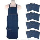 12 Denim Adult Aprons Work Shop Jewelers Workshop Hobby Craft Jewelry Tool