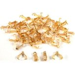 48 Bails Gold Plated Connectors Necklace Chain Parts 8 x 3mm
