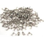150 Bails Rhodium Connector Jewelry Necklace Chain Part