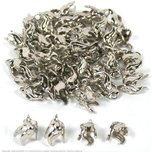 48 Bead Caps Necklace Pendant Chain Bails Beading Part!