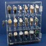 "Rotating Revolving Watch Display Case Counter 4 Shows 15 1/4"" New"