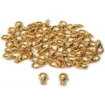 50 Hamilton Gold Plated Curved Lobster Claw Clasps 12mm x 6mm