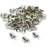Cord Ends Nickel Plated 8.6mm 40Pcs