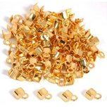 100 Gold Plated Necklace Chain Cord End Jewelry Parts