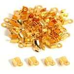 Cord Ends Gold Plated 5mm 48Pcs
