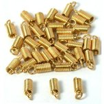 Coil Cord Ends Gold Plated 11mm 36Pcs