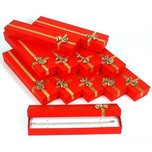 12 Red Bracelet Display Box Gold Bow Jewelry Display
