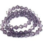 Bicone Faceted Fire Polished Chinese Crystal Beads Amethyst 6mm 1 Strand