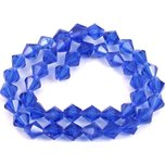 Bicone Faceted Fire Polished Chinese Crystal Beads Cobalt 8mm 1 Strand