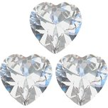 Cubic Zirconia Heart 5mm 3Pcs