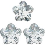 Cubic Zirconia Flower 5x5mm 3Pcs