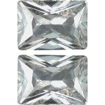 Cubic Zirconia Emerald Cut 5x7mm 2Pcs