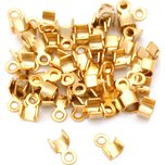 Cord Ends Gold Plated 3mm 50Pcs