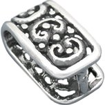 Sterling Silver Large Ornate Pinch Bail 13mm