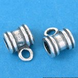 2 St. Silver Med Bali Tube Slider Jewelry Bail 3mm Hole