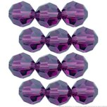 12 Amethyst Round Swarovski Crystal Beads 5000 3mm New