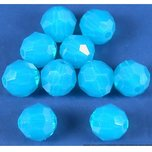 10 Blue Opal Round Swarovski Crystal Beads 5000 6mm