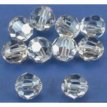 10 Silver Shade Round Swarovski Crystal Beads 5000 6mm