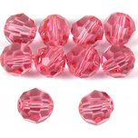 10 Rose Round Swarovski Crystal Beads Beading 5000 6mm
