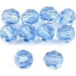 10 Light Sapphire Round Swarovski Crystal Beads 6mm