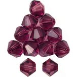 12 Amethyst Bicone Swarovski Crystal Beads 5301 4mm New