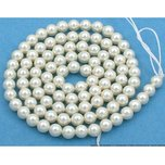 100 Cream Swarovski Crystal Pearl Beads Jewelry 4mm