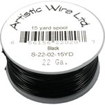Artistic Wire Spool Black 22 Gauge 13.7M
