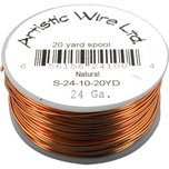 Artistic Wire Spool Natural 24 Gauge 18.2M