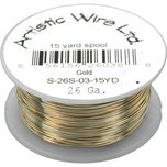 Artistic Wire Spool Gold Tone 26 Gauge 13.7M