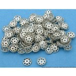 300 Silver Plated End Bead Caps Jewelry Beads 6.5mm