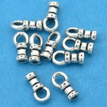 Crimp Cord Ends Sterling Silver 1.3mm 10Pcs