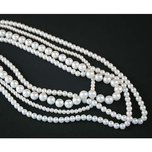 White Beads Necklace 13""