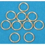 Closed Jump Rings 14k Gold Filled 5mm 24 Gauge 10Pcs