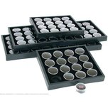 6 16 Black Gem Jars Display & Stackable Tray