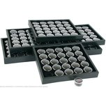 6 25 Black Gem Jars Display & Stackable Tray