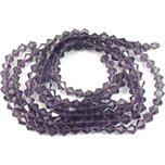 Bicone Faceted Fire Polished Chinese Crystal Beads Amethyst 6mm 5 Strands